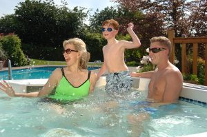 Hot tubs offer stress relief