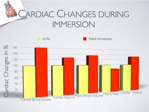 cardiac changes during hot tub immersion