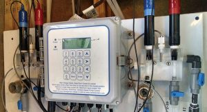 Chemical automation using direct connections from microprocessor-based programmable controllers to a wireless Internet database management system provides facility operators with real-time water chemistry data.