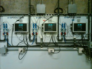 Commercial Swimming Pool and Spa Sanitation - Multiple Controller Installaltion